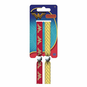 Wonder Woman Logo Pack of 2 Festival Wrist Bands