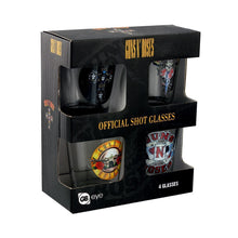 Load image into Gallery viewer, Guns N Roses Set of 4 Shot Glasses