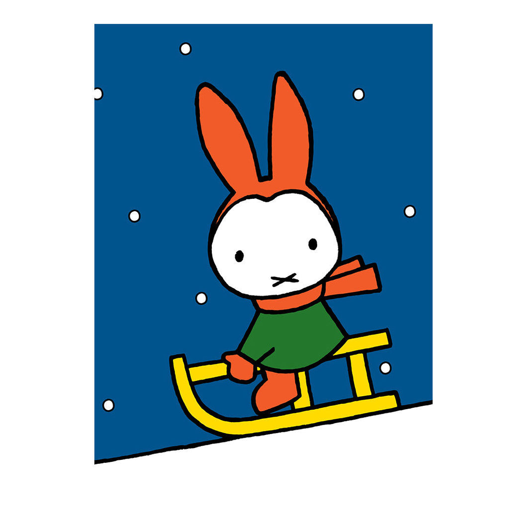 Miffy Christmas Sleigh Greeting Card