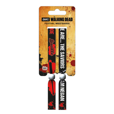 The Walking Dead Saviours Pack of 2 Festival Wrist Bands