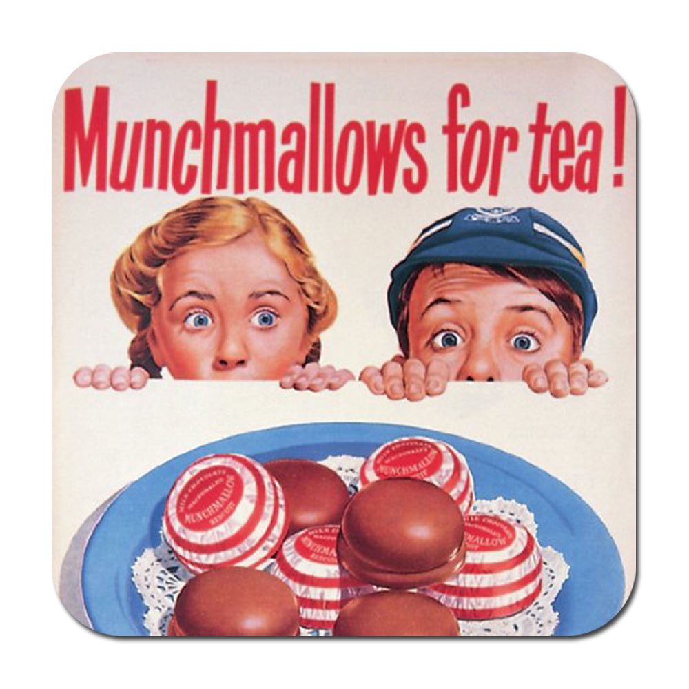 Munchmallows For Tea! Single Coaster