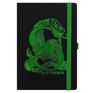 Harry Potter Slytherin Foil Monogram A5 Notebook