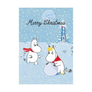 "The Moomins Moomintroll & Snorkmaiden ""Merry Christmas"" Greeting Card"