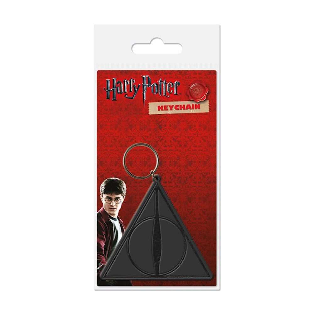 Harry Potter Deathly Hallows Sign PVC Keyring