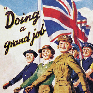"Wartime Women ""Doing A Grand Job"" Single Coaster"