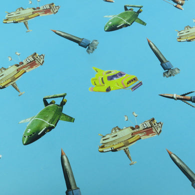 3 Sheets Of Thunderbirds Vehicles Gift Wrap