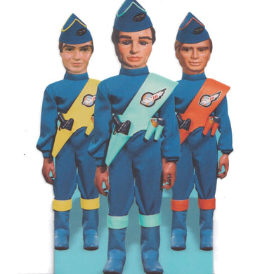 Thunderbirds Pilots Shaped Greeting Card