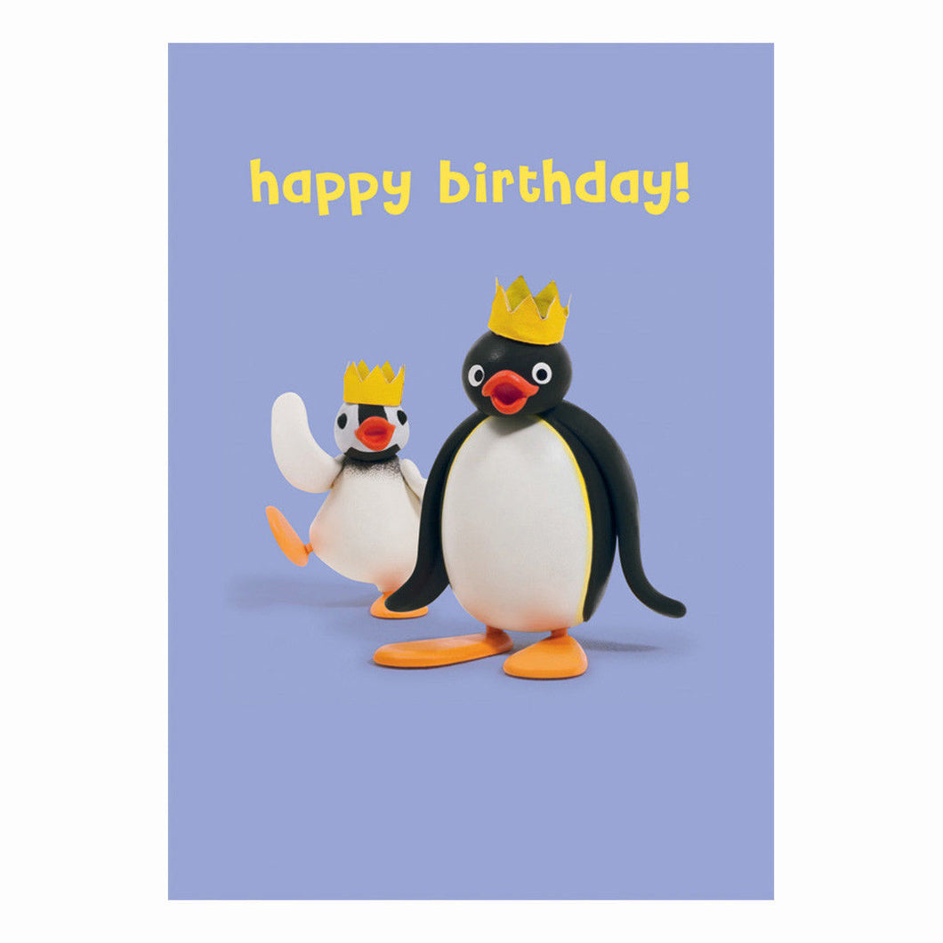 Pingu & Pinga Happy Birthday Greeting Card