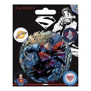 Superman Figure Set of 5 Vinyl Stickers