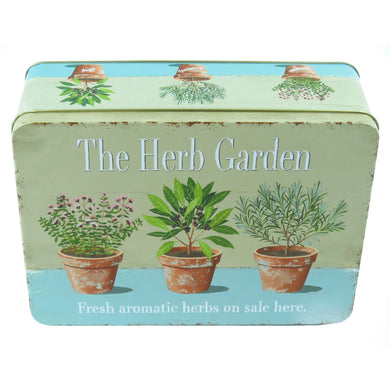 The Herb Garden Rectangular Storage Tin