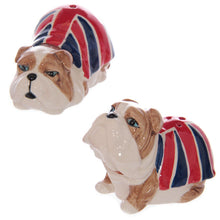 Load image into Gallery viewer, British Bulldog Ceramic Salt & Pepper Pots
