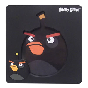 Black Angry Birds Photo Frame