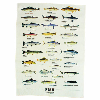 Ecologie Fish Species Tea Towel