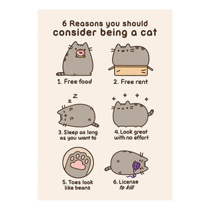 Pusheen 6 Reasons You Should Consider Being A Cat Greeting Card
