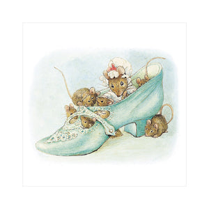 Square Beatrix Potter Old Woman Who Lived In A Shoe Greeting Card