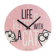 Load image into Gallery viewer, Simon's Cat Life Is Better With A Cat Wall Clock