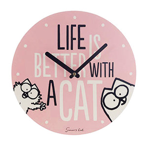 Simon's Cat Life Is Better With A Cat Wall Clock