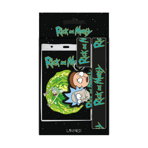 Rick & Morty Portal Lanyard, ID Pocket & Keyring
