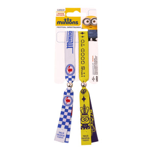 Minion Mania & It's Good To Be A Minion Pack of 2 Festival Wrist Bands