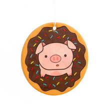 Load image into Gallery viewer, Piggy Doughnut Chocolate Scented Air Freshener