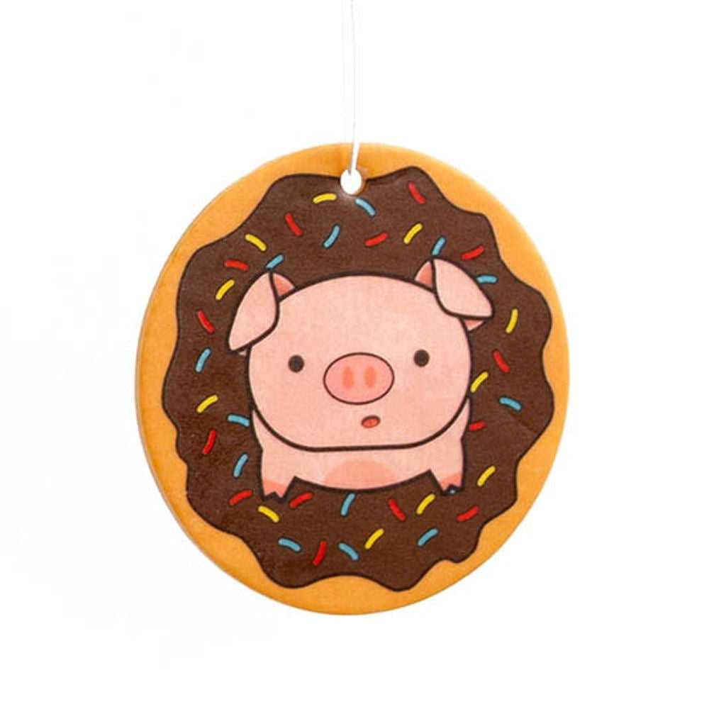 Piggy Doughnut Chocolate Scented Air Freshener
