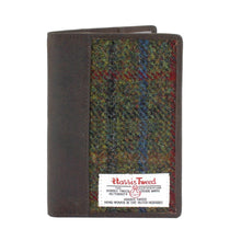 Load image into Gallery viewer, Passport Holder with Harris Tweed Green & Red Tartan