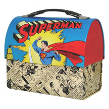 Load image into Gallery viewer, Superman Domed Tin Tote