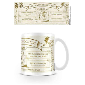 Harry Potter Hogwarts School Uniform List Mug