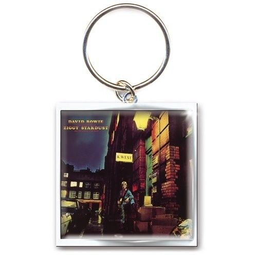 David Bowie Ziggy Stardust Album Cover Metal Keyring