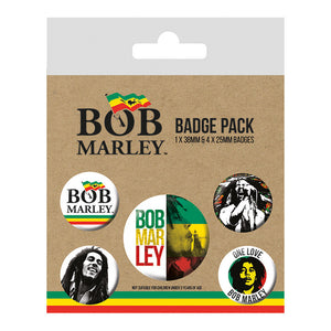 Bob Marley Badge Set