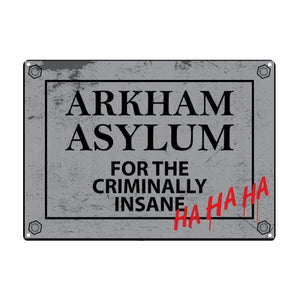 Batman Arkham Asylum A5 Steel Sign