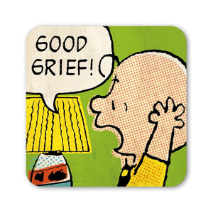 "Charlie Brown ""Good Grief"" Coaster."