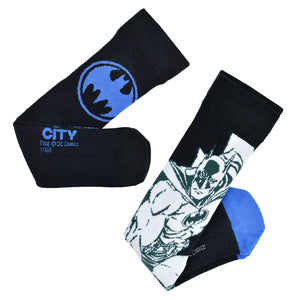 Batman Black White & Blue 2 Pack of Socks