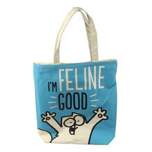 Load image into Gallery viewer, Simon's Cat I'm Feline Good Shopping Bag