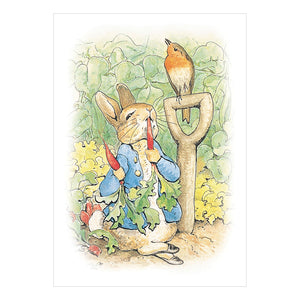 Beatrix Potter Peter Rabbit Eating Carrots Greeting Card