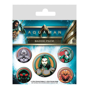 Aquaman Badge Set