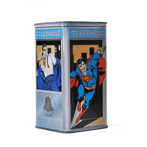 Superman Clark Kent Phone Booth Money Tin