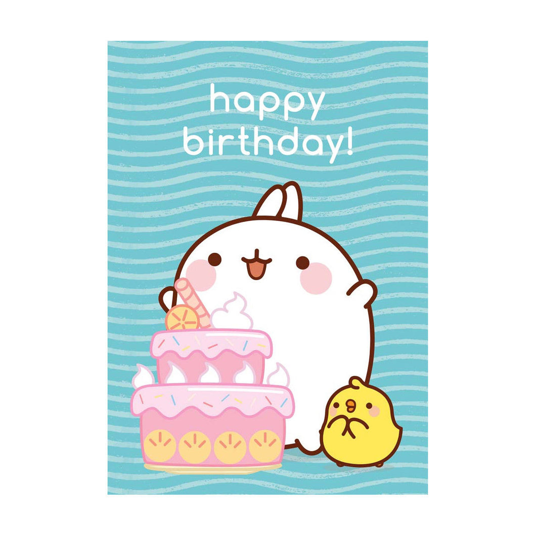 Molang Happy Birthday Greeting Card
