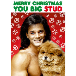 Merry Christmas You Big Stud Greeting Card