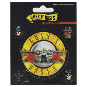 Guns N Roses Set of 5 Vinyl Stickers