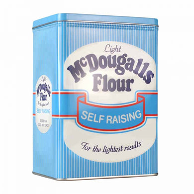 Blue & White Striped McDougalls Flour Storage Tin
