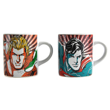 Load image into Gallery viewer, Aquaman & Superman Set of 2 Heat Change Espresso Cups