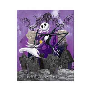 Unframed The Nightmare Before Christmas Graveyard 3D Lenticular 10