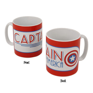 Art Deco Captain America Red Logo Mug