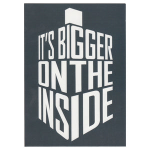 Doctor Who It's Bigger On The Inside Greetings Card