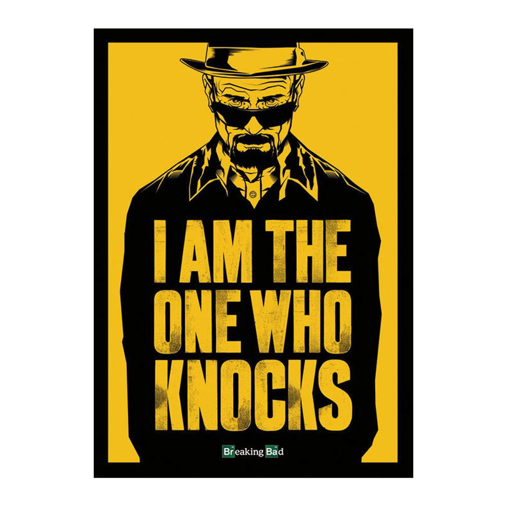 Breaking Bad I Am The One Who Knocks Postcard