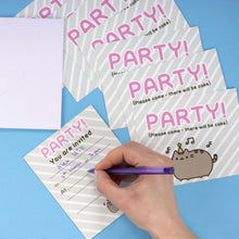 Load image into Gallery viewer, Pack of 8 Pusheen Party Invitation Cards & Envelopes
