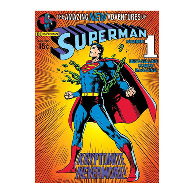 Superman Kryptonite Nevermore! Postcard