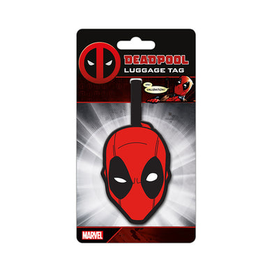 Deadpool Mask PVC Luggage Tag