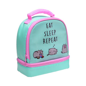 Pusheen Eat Sleep Repeat Insulated Lunch Bag
